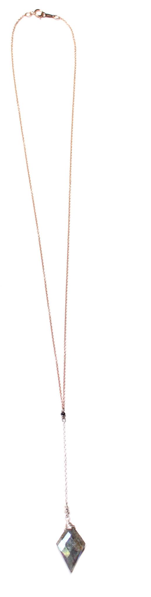 Sarah Dunn Labradorite Lariat Necklace