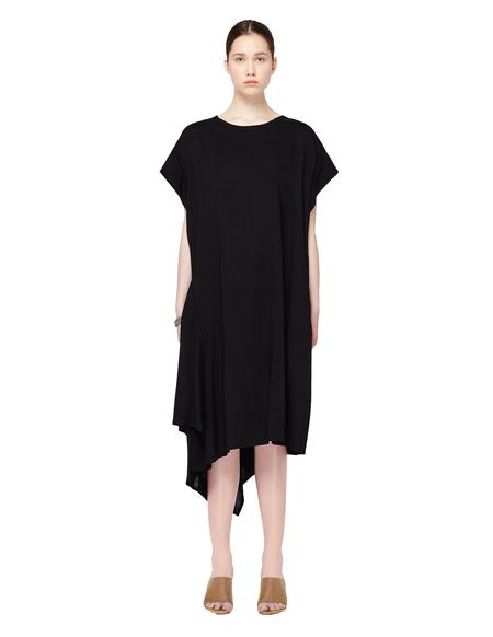 Yohji Yamamoto Asymmetric Wool Dress