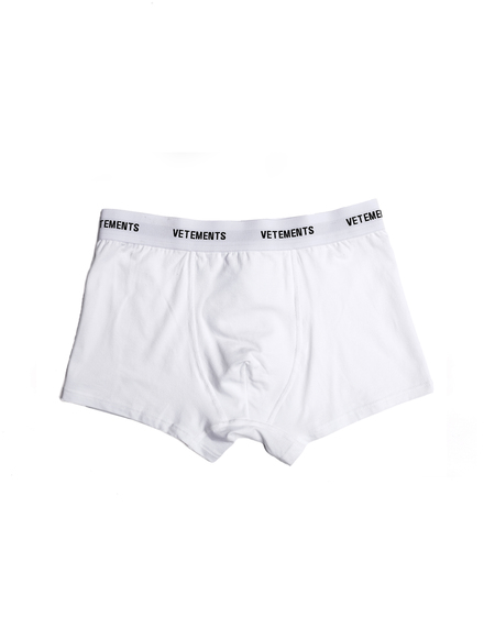 Vetements Logo Cotton Boxers - White