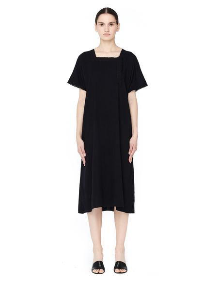 Blackyoto Vintage Dyed Cotton Dress - Black