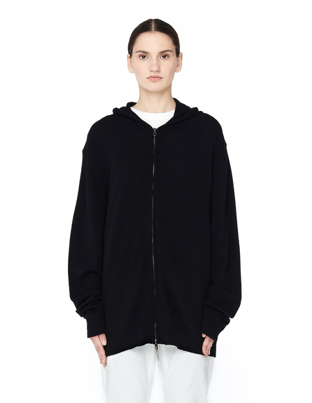 Blackyoto Cashmere Hoodie with Silk Embroidery