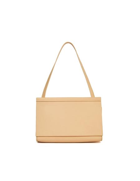 Isaac Reina Leather Clutch Bag - Beige