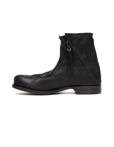 Leon Emanuel Blanck Hi-top leather boots - black