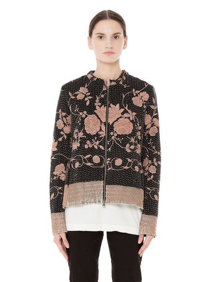By Walid Rose Embroidered Bomber Jacket