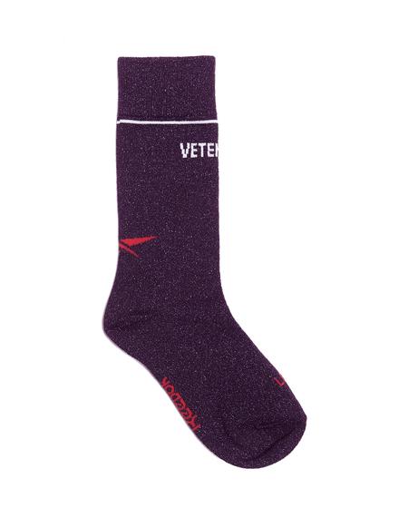 Vetements Lurex Logo Socks