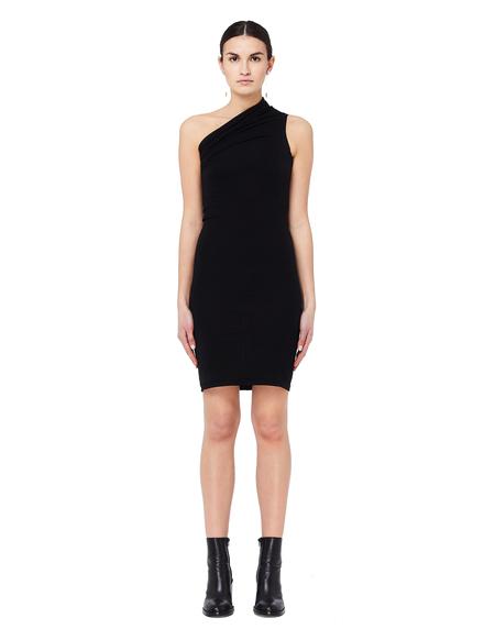 Rick Owens DRKSHDW Cotton One Shoulder Dress - Black