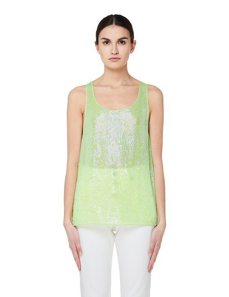 Ashish Sequin Embroidered Top - Green