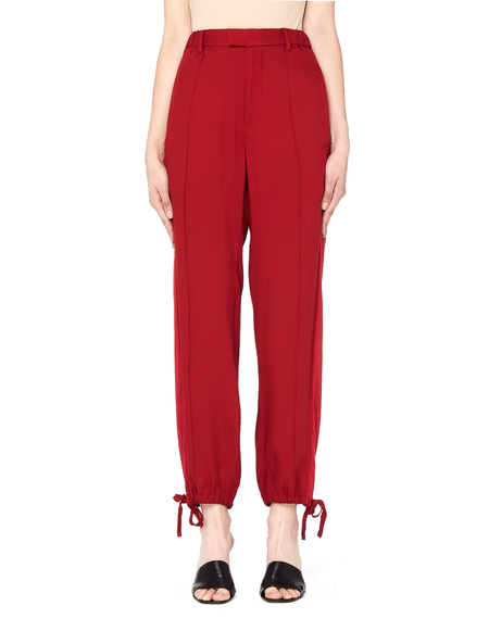 Sue Undercover Striped Drawstring Pants - Red