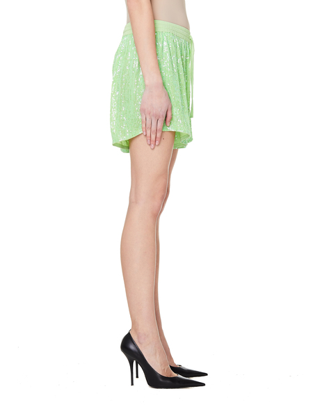 Ashish Sequin Shorts - Green