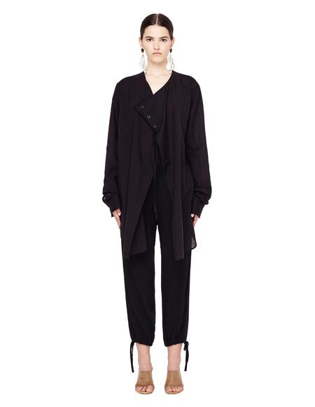 Yohji Yamamoto Cotton/Cupro Shirt  - Black