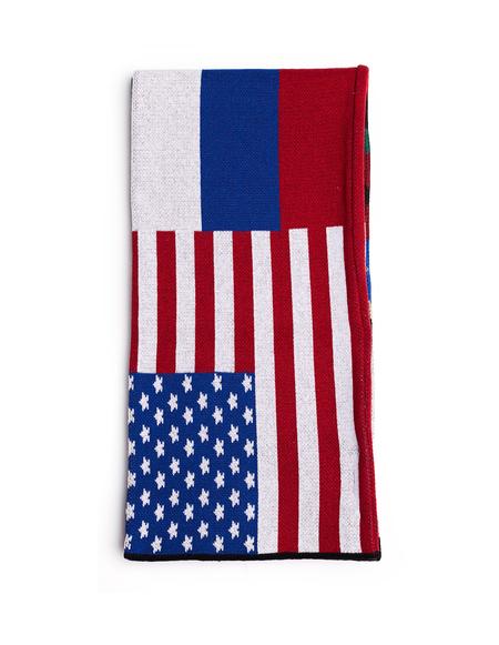 Gosha Rubchinskiy Flags Cotton Mix Scarf - Multicolor