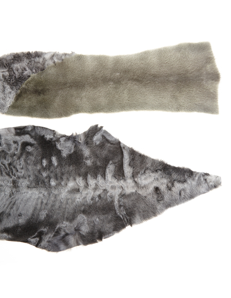 32 Paradis Astrakhan And Mink Fur Scarf
