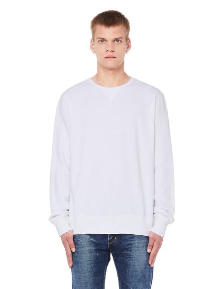 120% Lino Linen/Cotton Sweatshirt - White