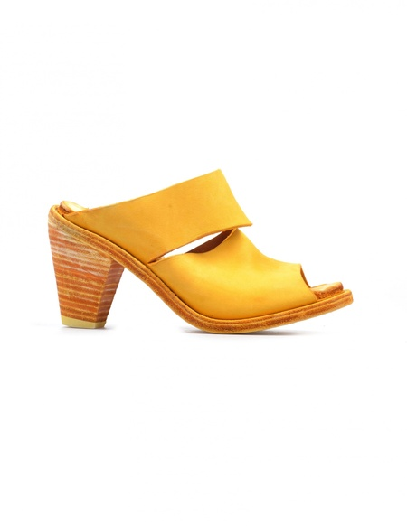 Guidi Leather Heels - Yellow