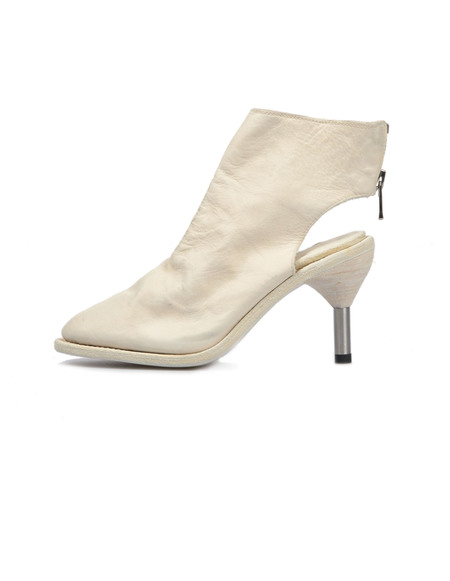 Guidi Leather Ankle Boots - White