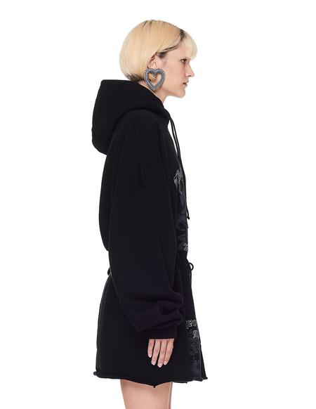 Vetements Hacker Hoodie Dress - Black