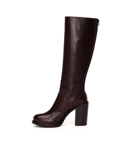 A.F.Vandevorst Leather Heeled Boots - Brown