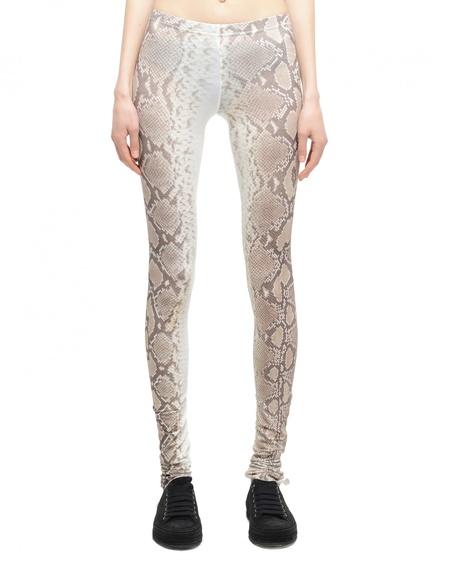 If Six Was Nine Snakeskin-Printed Cotton Leggings - Beige