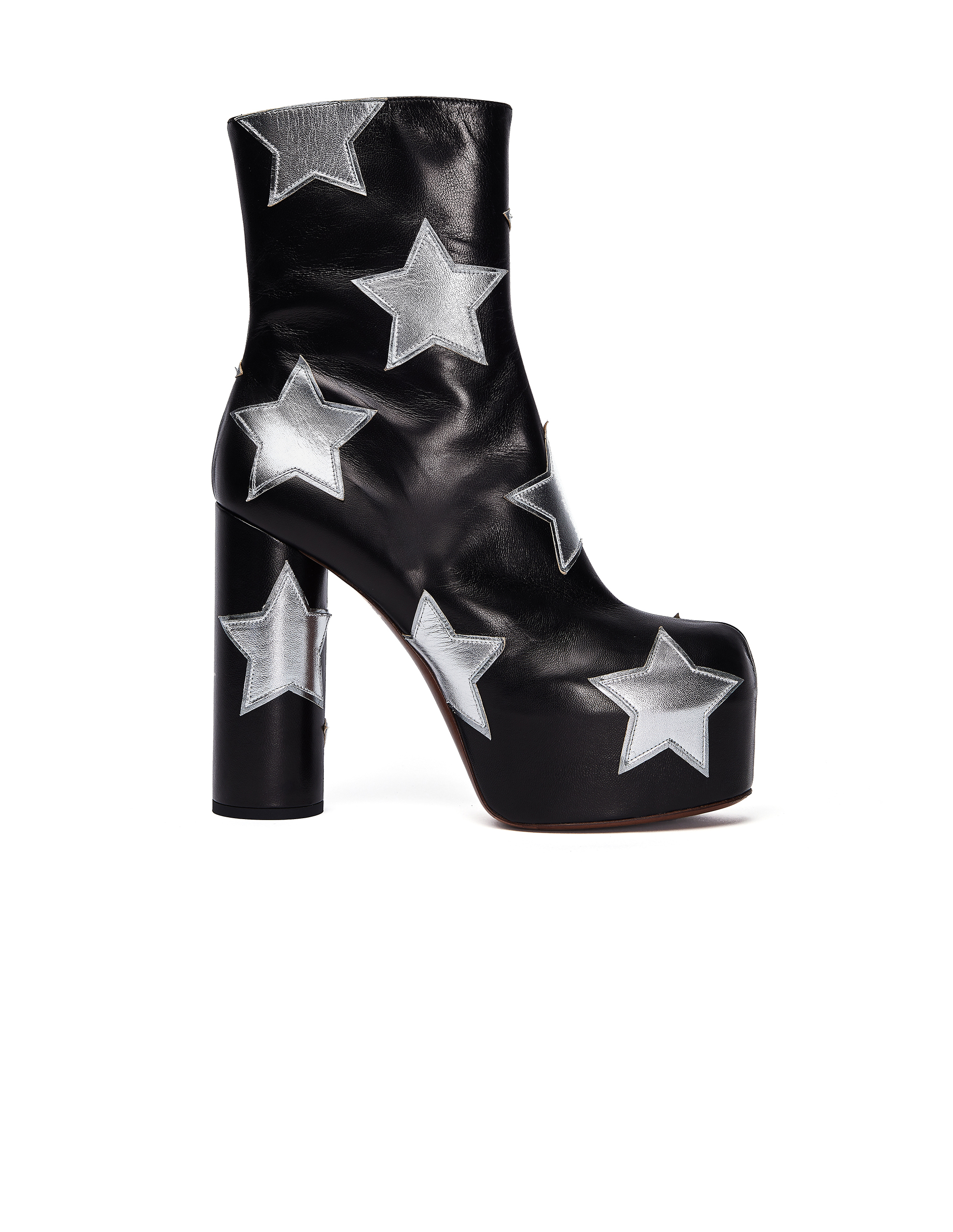 Vetements Leather Star Platform Ankle