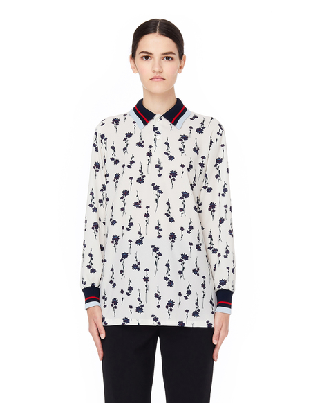 Sue Undercover Flower Printed Blouse - Ivory