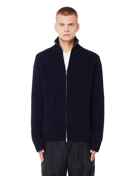 Maison Margiela Wool Zip-Up Sweater - Navy Blue