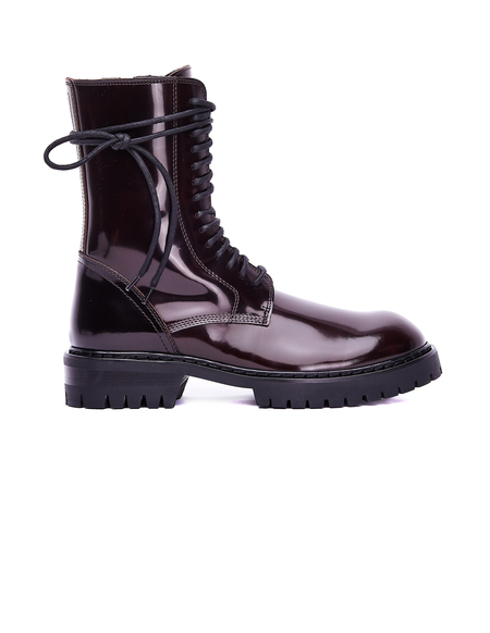 Ann Demeulemeester Leather Boots - Burgundy