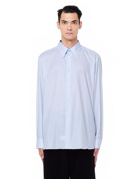 Raf Simons Checked Plastic Pocket Shirt - Light Blue