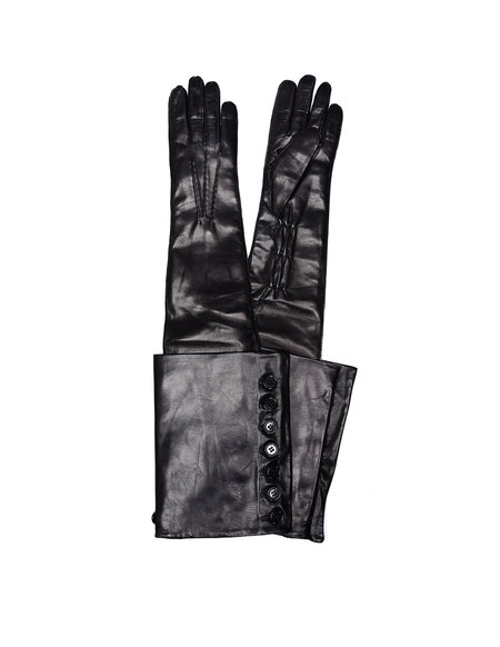 Ann Demeulemeester Joris Leather Gloves - Black