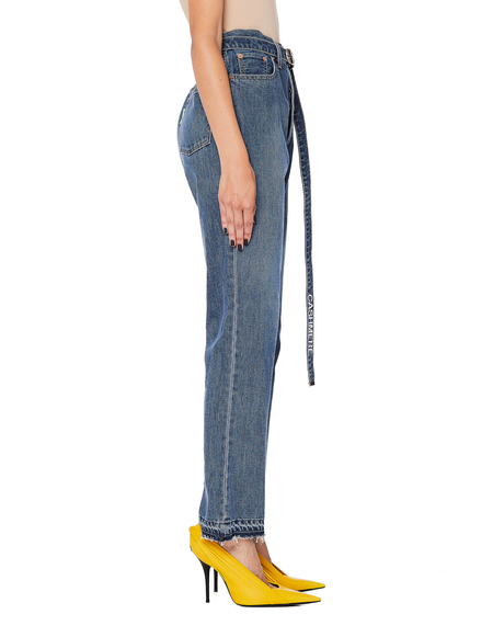 Doublet Cotton/Cashmere Belted Jeans - Blue