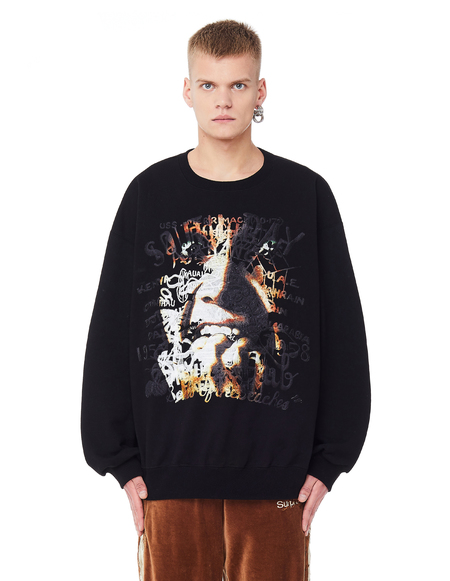 Doublet Embroidered Sweatshirt - Black