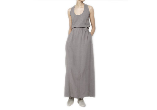 7115 BY SZEKI RACERBACK MAXI DRESS - GREY