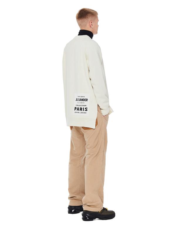 jil sander knit patch sweatshirt