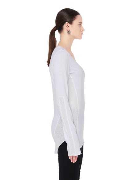 L.G.B. Cotton Long Sleeve T-Shirt - White