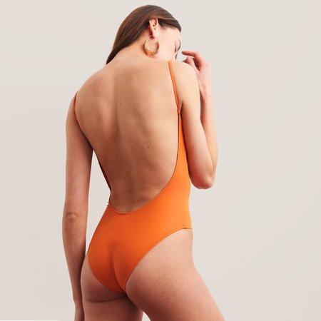 Bower Swimwear Hutton One Piece Swimsuit - Burnt Orange