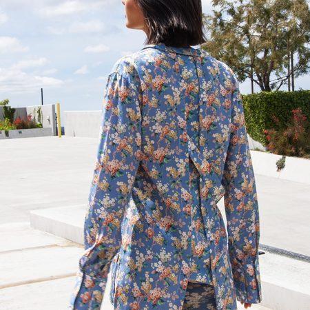 Delada Josephine Oversized Shirt - pastel floral