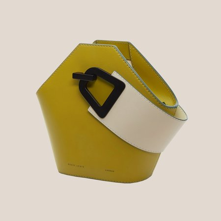 danse lente Mini Johnny Leather Bucket Bag - Olive/Dove