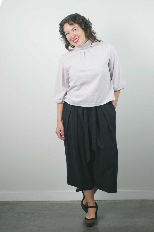 Jennifer Glasgow Enyo Blouse - Lavender Stripe