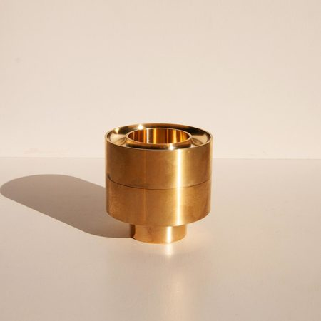 Fort Standard Stacking Candle Holder - brass