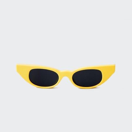 Adam Selman The Breaker Sunglasses - Yellow