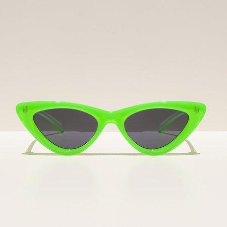 Adam Selman The Last Lolita Sunglasses - Neon Lime