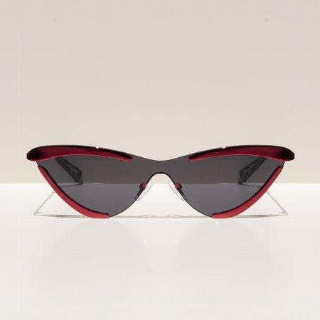 Adam Selman The Scandal Sunglasses - Metallic Red