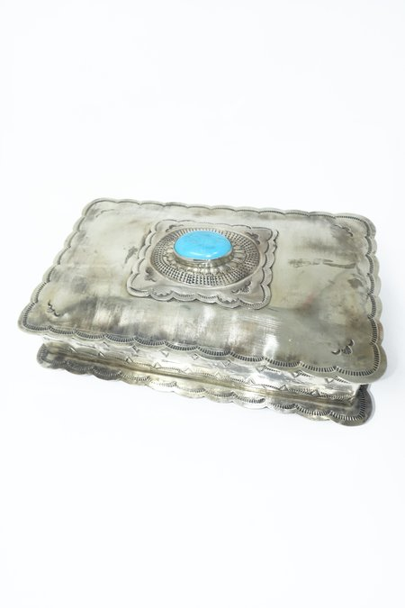 J. Alexander Stamped Box with Concho - Silver