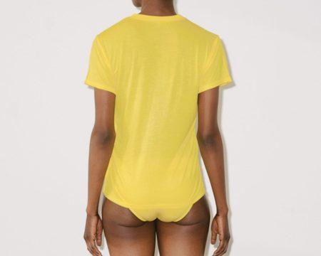 Baserange Bamboo Jersey Tee - Braid Yellow