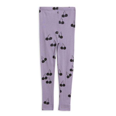 kids mini rodini cherry wool leggings - purple