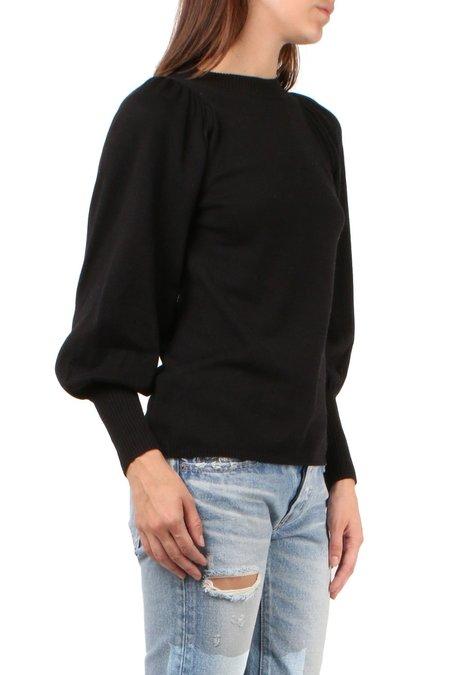 Apiece Apart Dewi Puff Sleeve Sweater - Black