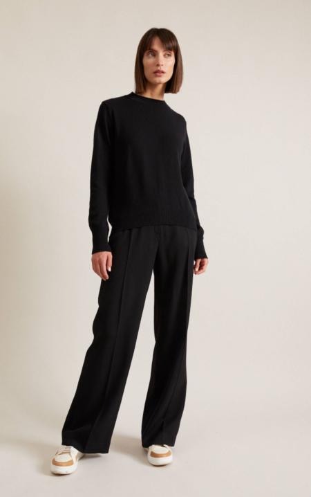 Lanius organic virgin wool pullover - black