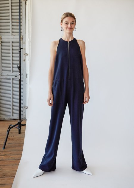 Nomia Zip Front Jumpsuit - Midnight