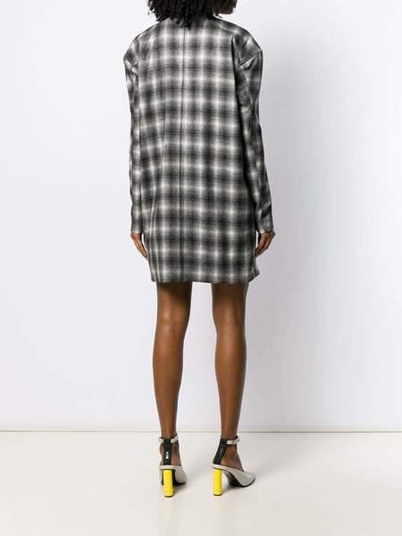 NINA RICCI D-Grad Check Dress - black/off white