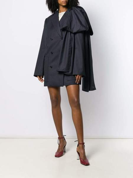 NINA RICCI Silk Short Dress - Navy/White