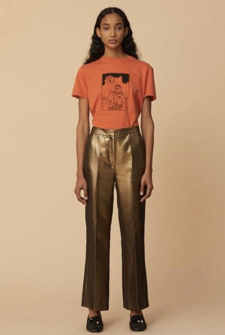 Alexa Chung High Waisted Trouser - Gold